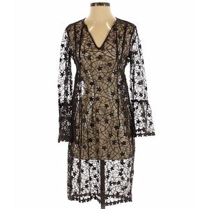 Clover Canyon Sheer Embroidered Dress